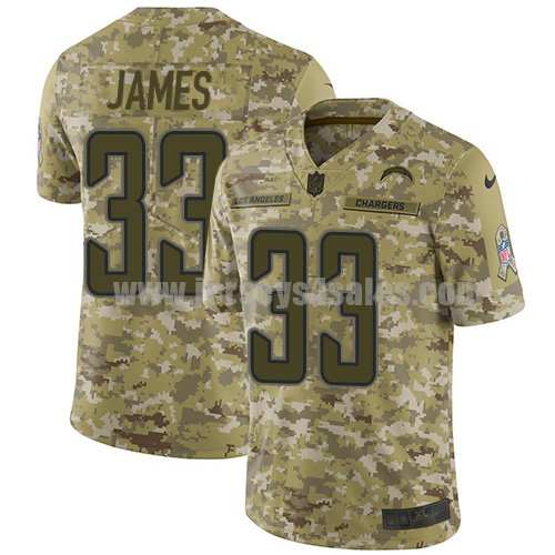 Nike Los Angeles Chargers #33 Derwin James Camo Youth Stitched NFL Limited 2018 Salute to Service Jersey