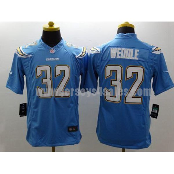 Nike Chargers #32 Eric Weddle Electric Blue Alternate Men's Stitched NFL New Limited Jersey