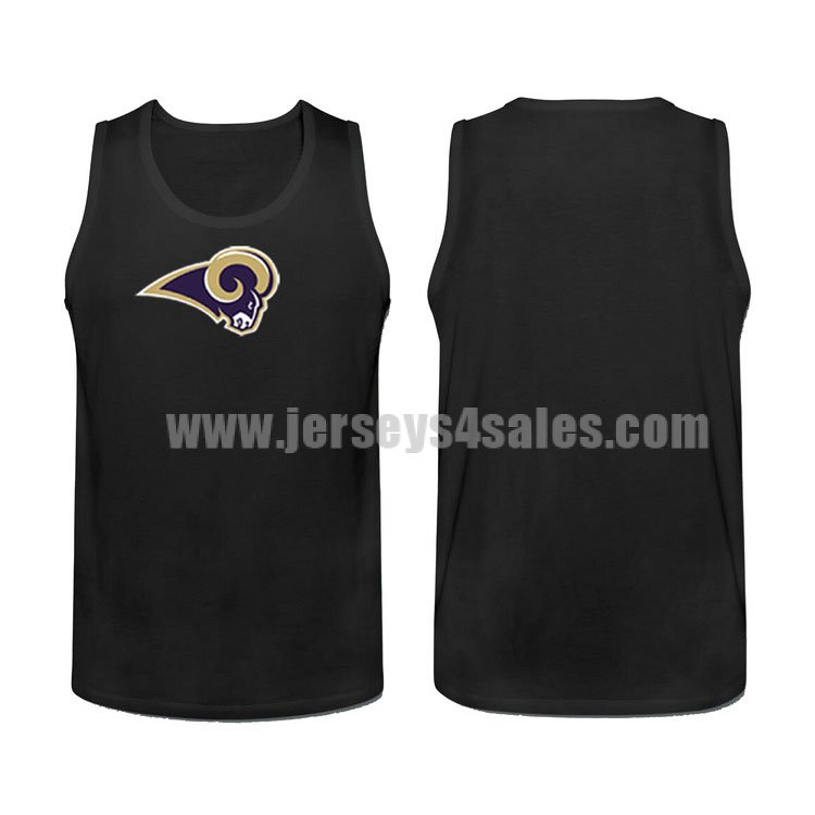 Men's Los Angeles Rams Cotton Team Nike NFL Black Tank Top