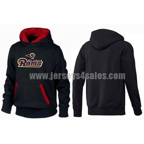 Los Angeles Rams Authentic Logo Pullover Hoodie Black & Red