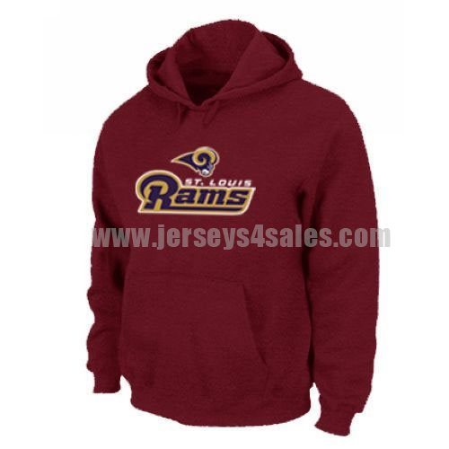 Los Angeles Rams Authentic Logo Pullover Hoodie Red