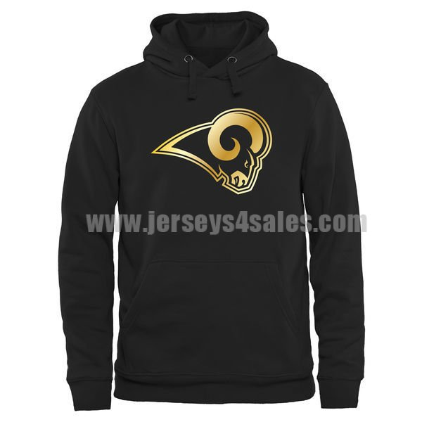 Men's Los Angeles Rams Pro Line Black Gold Collection Pullover NFL Hoodie