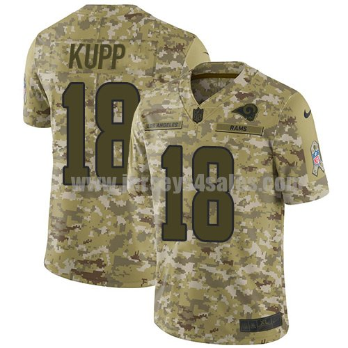 Nike Los Angeles Rams #18 Cooper Kupp Camo Men's Stitched NFL Limited 2018 Salute To Service Jersey