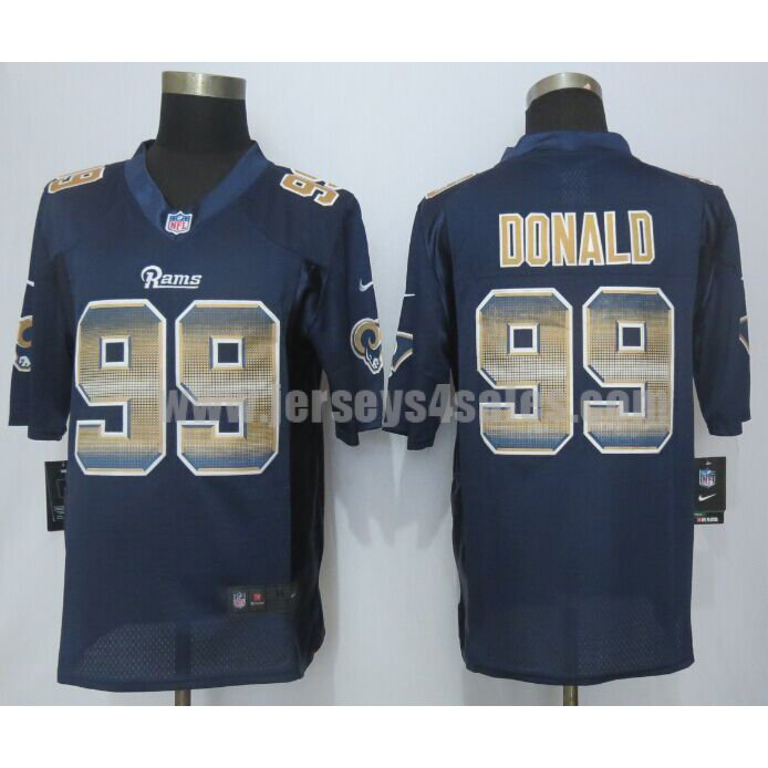 Men's Los Angeles Rams #99 Aaron Donald Navy Blue Team Color Stitched Strobe Nike NFL Limited Jersey