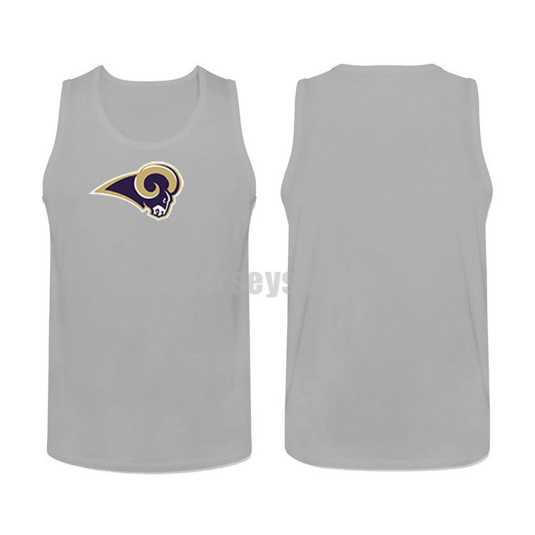 Men's Los Angeles Rams Cotton Team Nike NFL Grey Tank Top