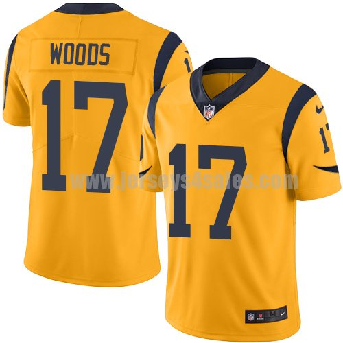 Nike Los Angeles Rams #17 Robert Woods Gold Youth Stitched NFL Limited Rush Jersey