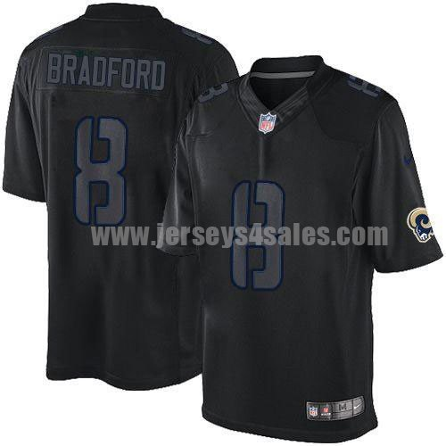 Nike Rams #8 Sam Bradford Black Men's Stitched NFL Impact Limited Jersey