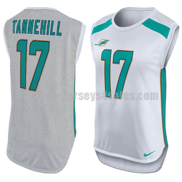 Women's Miami Dolphins #17 Ryan Tannehill White Nike Player Name & Number Sleeveless NFL Top