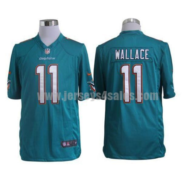 Nike Dolphins #11 Mike Wallace Aqua Green Team Color Men's Stitched NFL Game Jersey