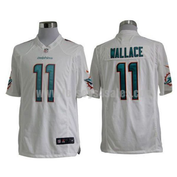 Nike Dolphins #11 Mike Wallace White Men's Stitched NFL Game Jersey