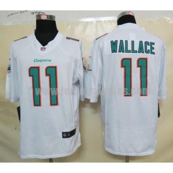 Nike Dolphins #11 Mike Wallace White Men's Stitched NFL Limited Jersey