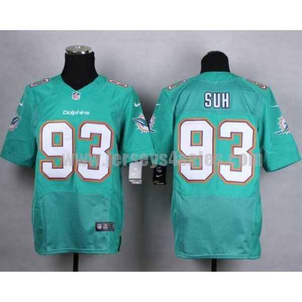 Nike Dolphins #93 Ndamukong Suh Aqua Green Team Color Men's Stitched NFL New Elite Jersey