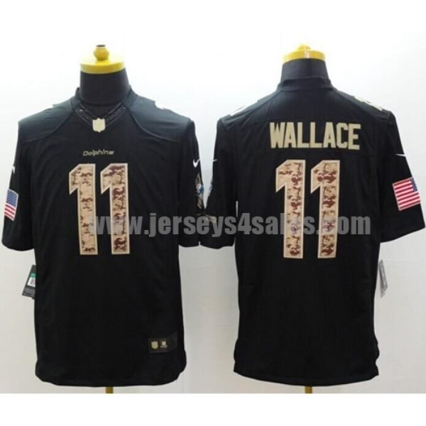 Nike Dolphins #11 Mike Wallace Black Men's Stitched NFL Limited Salute to Service Jersey
