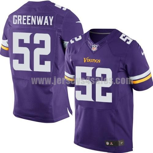 Nike Vikings #52 Chad Greenway Purple Team Color Men's Stitched NFL Elite Jersey