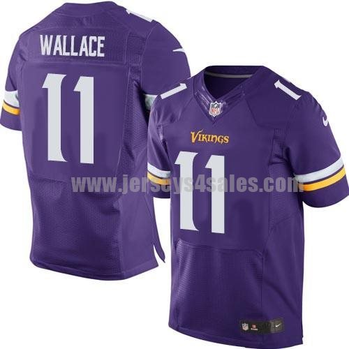 Nike Vikings #11 Mike Wallace Purple Team Color Men's Stitched NFL Elite Jersey