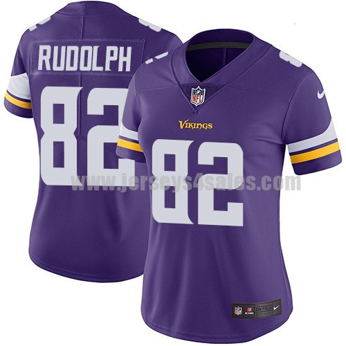 Women's Minnesota Vikings #82 Kyle Rudolph Purple Nike NFL Vapor Untouchable Limited Jersey