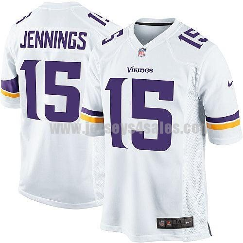 Nike Vikings #15 Greg Jennings White Men's Stitched NFL Game Jersey