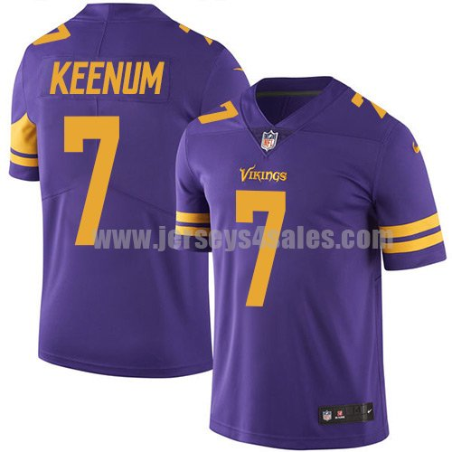 Men's Minnesota Vikings #7 Case Keenum Purple Nike NFL Color Rush Limited Jersey