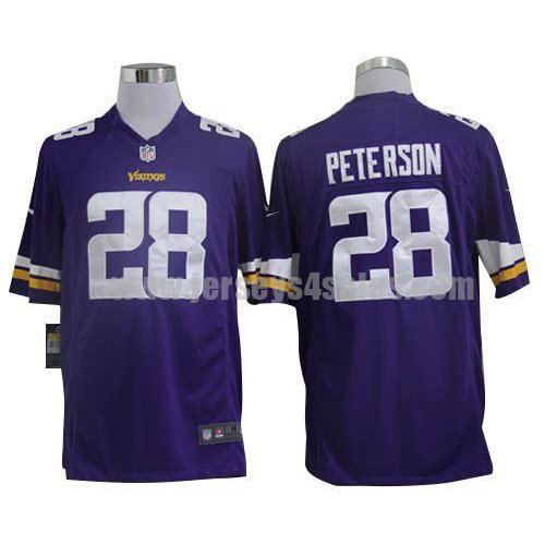 Nike Vikings #28 Adrian Peterson Purple Team Color Men's Stitched NFL Game Jersey