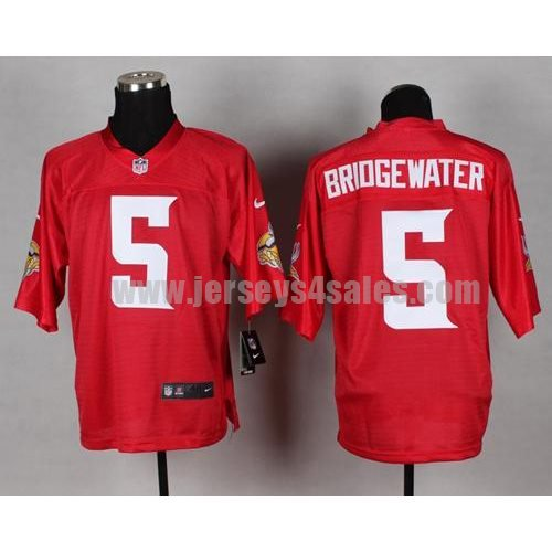 Nike Vikings #5 Teddy Bridgewater Red Men's Stitched NFL Elite QB Practice Jersey
