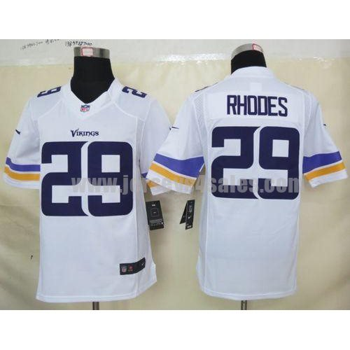 Nike Vikings #29 Xavier Rhodes White Men's Stitched NFL Limited Jersey