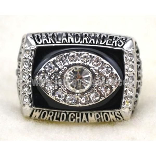 NFL Oakland Raiders World Champions Silver Ring_1