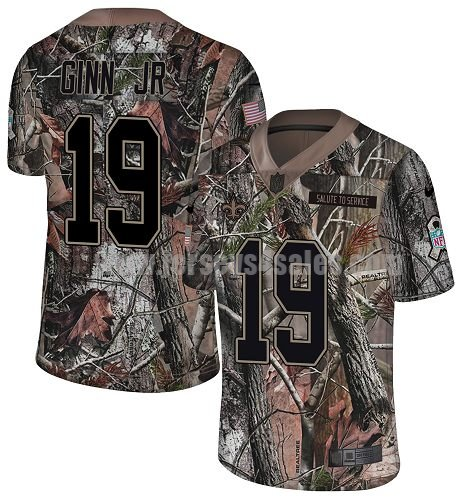 Nike New Orleans Saints #19 Ted Ginn Jr. Camo Youth Stitched NFL Limited Rush Realtree Jersey