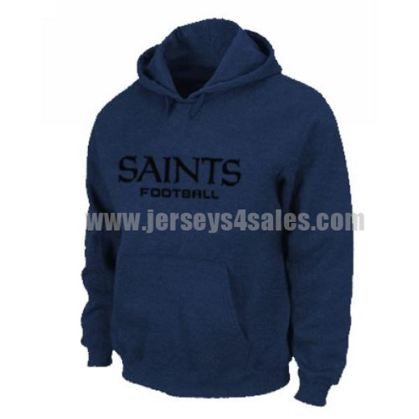 New Orleans Saints Authentic Font Pullover Hoodie Dark Blue