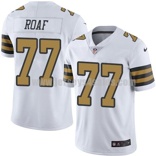 Nike New Orleans Saints #77 Willie Roaf White Men's Stitched NFL Limited Rush Jersey