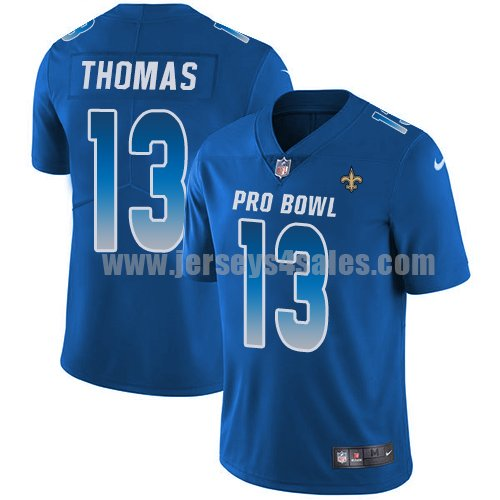 Nike New Orleans Saints #13 Michael Thomas Royal Youth Stitched NFL Limited NFC 2018 Pro Bowl Jersey