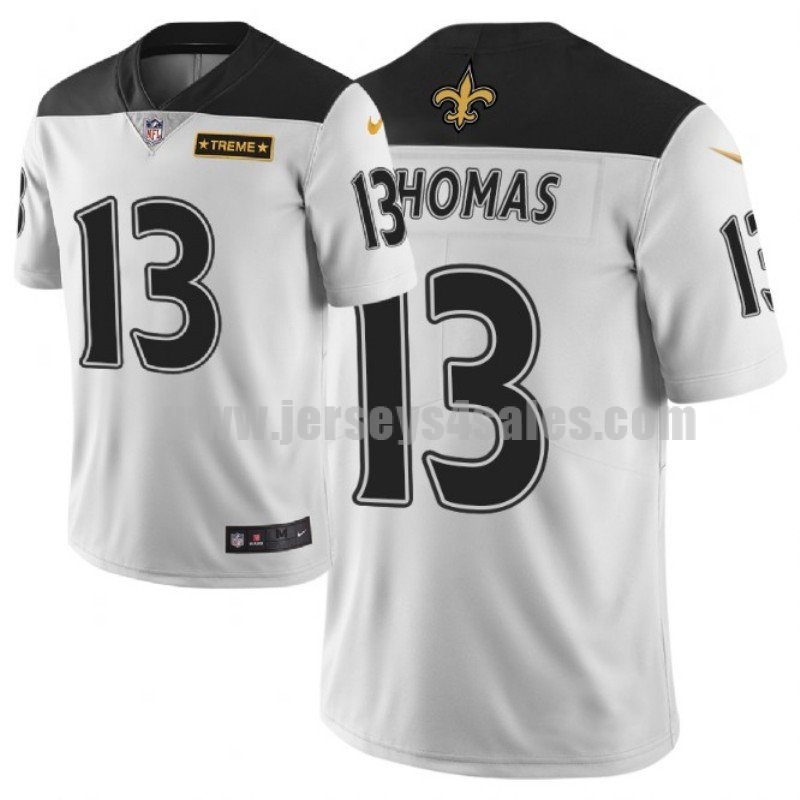 Men's New Orleans Saints #13 Michael Thomas NFL City Edition White Jersey