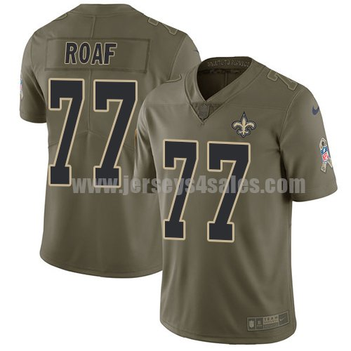 Nike New Orleans Saints #77 Willie Roaf Olive Men's Stitched NFL Limited 2017 Salute To Service Jersey