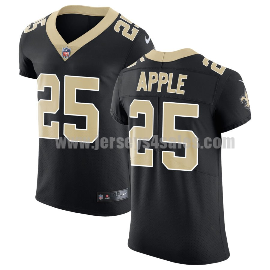 Nike New Orleans Saints #25 Eli Apple Black Team Color Men's Stitched NFL Vapor Untouchable Elite Jersey