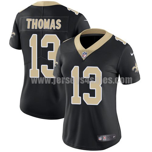 Nike New Orleans Saints #13 Michael Thomas Black Team Color Women's Stitched NFL Vapor Untouchable Limited Jersey