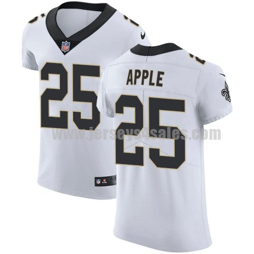 Nike New Orleans Saints #25 Eli Apple White Men's Stitched NFL Vapor Untouchable Elite Jersey