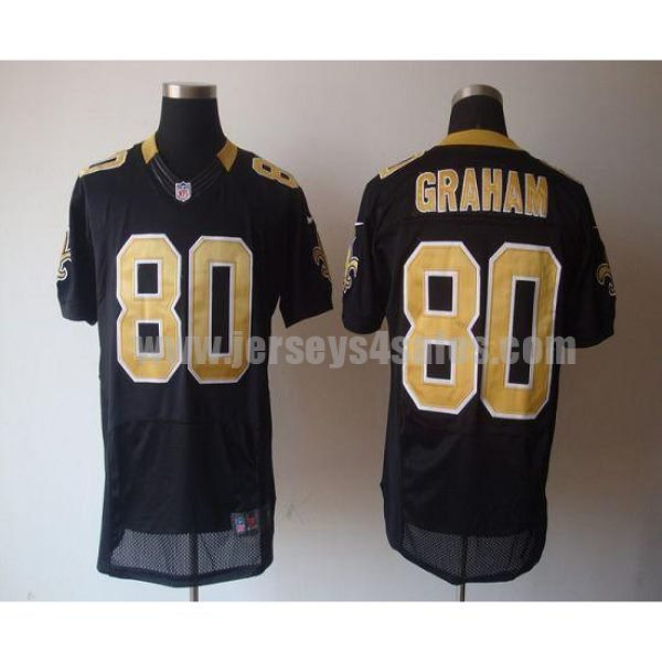Nike Saints #80 Jimmy Graham Black Team Color Men's Stitched NFL Elite Jersey