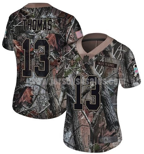 Nike New Orleans Saints #13 Michael Thomas Camo Women's Stitched NFL Limited Rush Realtree Jersey