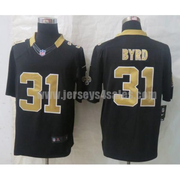 Nike Saints #31 Jairus Byrd Black Team Color Men's Stitched NFL Limited Jersey