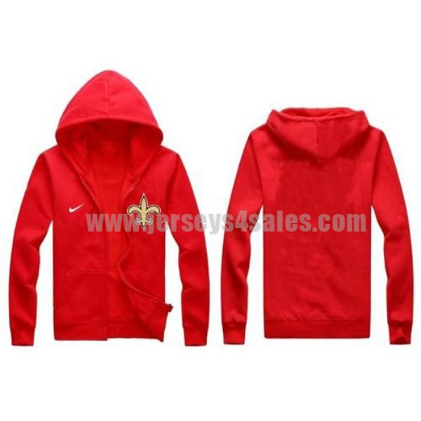 Nike New Orleans Saints Authentic Logo Hoodie Red