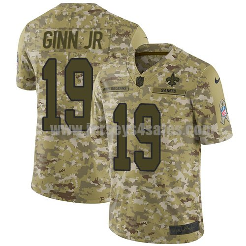 Nike New Orleans Saints #19 Ted Ginn Jr. Camo Youth Stitched NFL Limited 2018 Salute to Service Jersey
