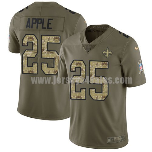 Nike New Orleans Saints #25 Eli Apple Olive/Camo Men's Stitched NFL Limited 2017 Salute To Service Jersey