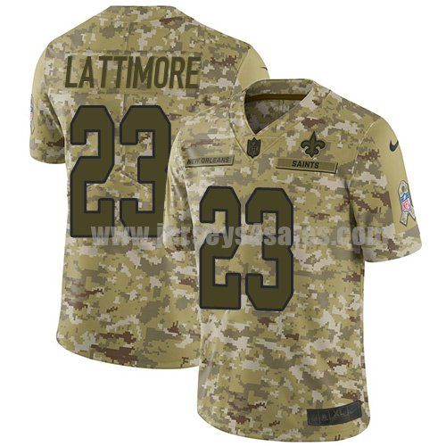 Nike New Orleans Saints #23 Marshon Lattimore Camo Men's Stitched NFL Limited 2018 Salute To Service Jersey