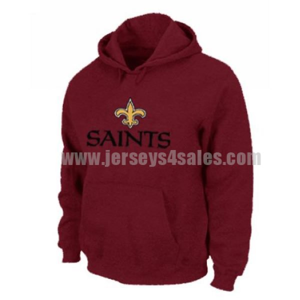 New Orleans Saints Authentic Logo Pullover Hoodie Red