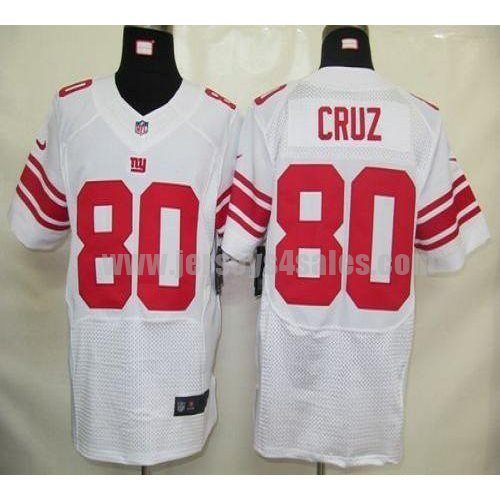 Nike Giants #80 Victor Cruz White Men's Stitched NFL Elite Jersey