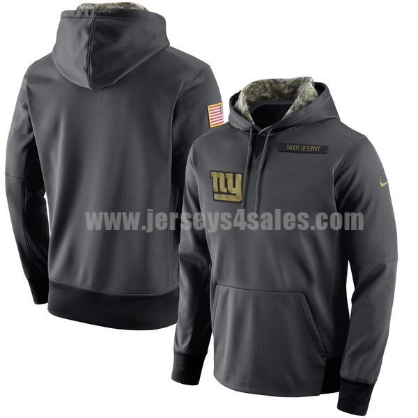 Men's New York Giants Nike Anthracite Salute to Service NFL Performance Hoodie