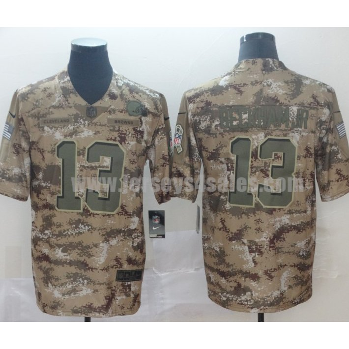 Men's New York Giants #13 Odell Beckham Jr Nike Camo Salute To Service Limited Jersey