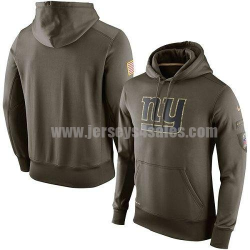 Men's New York Giants Nike Green Salute To Service KO Performance NFL Hoodie