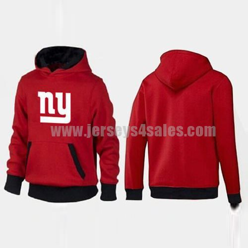 New York Giants Logo Pullover Hoodie Red & Black