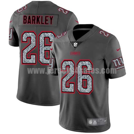 Men's New York Giants #26 Saquon Barkley NFL Teams Gray Fashion Static Limited Jersey