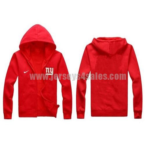 Nike New York Giants Authentic Logo Hoodie Red